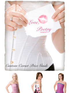 Love, Poetry Custom Corset Price Guide CORSETS