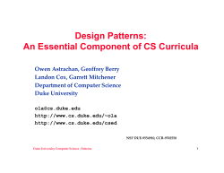 Design Patterns: An Essential Component of CS Curricula