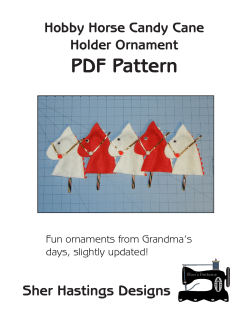 PDF Pattern Sher Hastings Designs Hobby Horse Candy Cane Holder Ornament