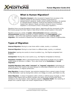What is Human Migration? Human Migration Guide (6-8)