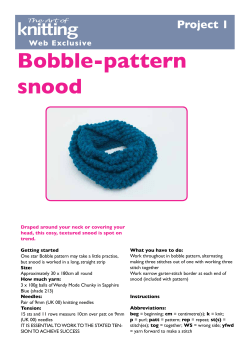 Bobble-pattern snood Project 1 Web Exclusive