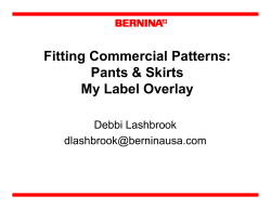 Fitting Commercial Patterns: Pants & Skirts My Label Overlay Debbi Lashbrook