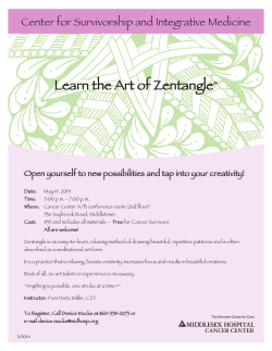 Learn the Art of Zentangle Center for Survivorship and Integrative Medicine