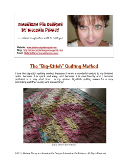 "The ""Big-Stitch"" Quilting Method"