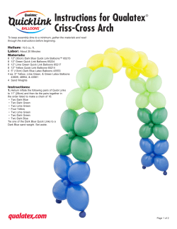Instructions for Qualatex Criss-Cross Arch ®