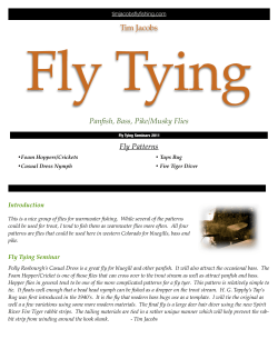 Fly Tying Tim Jacobs Panfish, Bass, Pike/Musky Flies