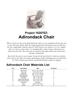 Adirondack Chair Project 16207EZ: