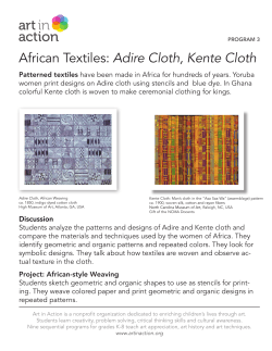 Adire Cloth, Kente Cloth