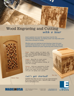 Wood Engraving and Cutting with a laser