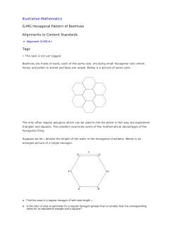 Illustrative Mathematics G-MG Hexagonal Pattern of Beehives Alignments to Content Standards Tags