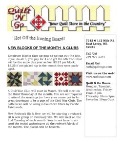 NEW BLOCKS OF THE MONTH  & CLUBS