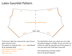 Latex Gauntlet Pattern