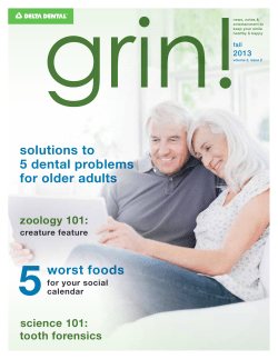 5 solutions to 5 dental problems for older adults