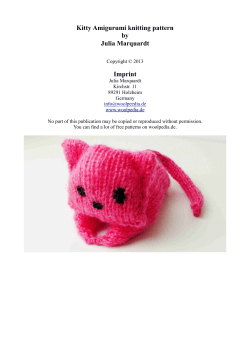 Kitty Amigurumi knitting pattern by Julia Marquardt Imprint
