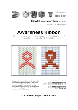 Awareness Ribbon  HIV/AIDS awareness ribbon pattern
