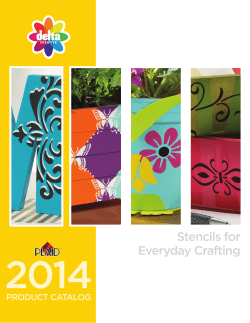 2014 Stencils for Everyday Crafting PRODUCT CATALOG