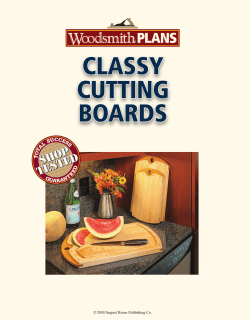 CLASSY CUTTING BOARDS © 2009 August Home Publishing Co.