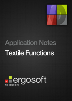 Application Notes Textile Functions