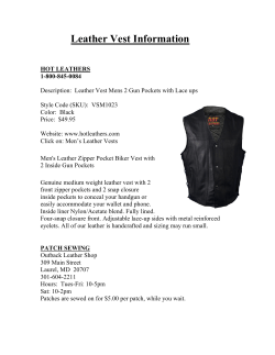 Leather Vest Information