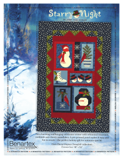 This charming wallhanging celebrates winter with whimsical snowmen,