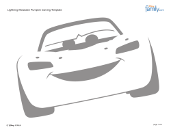 Lightning McQueen Pumpkin Carving Template © page 1 of 2