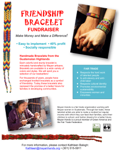 FRIENDSHIP BRACELET  FUNDRAISER