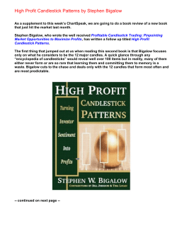 High Profit Candlestick Patterns by Stephen Bigalow