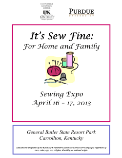 It's Sew Fine:  For Home and Family Sewing Expo