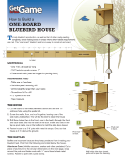T ONE-BOARD BLUEBIRD HOUSE How to Build a