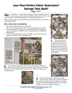 We Less-Than-Perfect Fabric Selections? Salvage That Quilt! Page 1 of 3