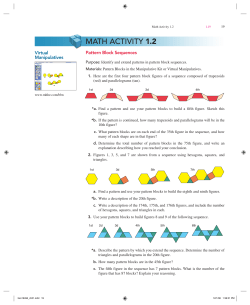 1.2 Pattern Block Sequences Virtual Manipulatives