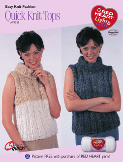 Quick Knit Tops Pattern FREE with purchase of RED HEART yarn! LW1322