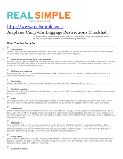Airplane Carry-On Luggage Restrictions Checklist