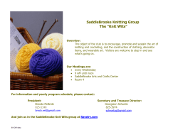 "SaddleBrooke Knitting Group The ""Knit Wits"""