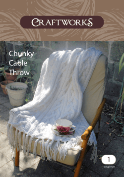 Chunky Cable Throw 1