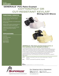 COTTON/POLY OR CUT-RESISTANT KEVLAR GENERALS PVC Palm-Coated