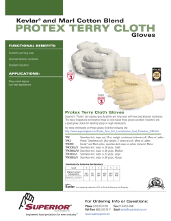 PROTEX TERRY CLOTH Kevlar and Marl Cotton Blend Gloves