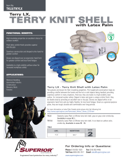 TERRY KNIT SHELL Terry LX, with Latex Palm TKLX/TKYLX