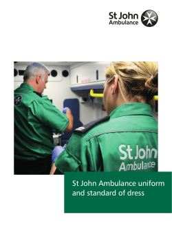 St John Ambulance uniform and standard of dress