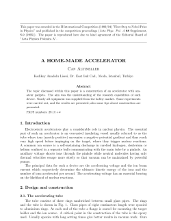 "This paper was awarded in the II International Competition (1993/94)... in Physics"" and published in the competition proceedings (Acta Phys...."