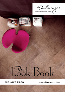 Look Book The WE LOVE TILES dilorenzo