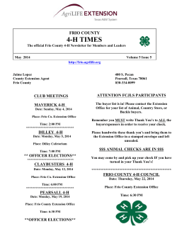 4-H TIMES FRIO COUNTY
