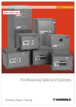 Fire Resisting Safes and Cabinets EMAIL COPY ONLY SAFES AND CABINETS