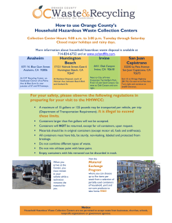 How to use Orange County's Household Hazardous Waste Collection Centers