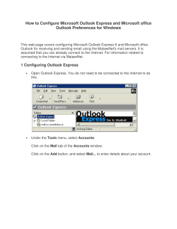How to Configure Microsoft Outlook Express and Microsoft office