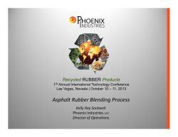 Asphalt Rubber Blending Process Recycled Products RUBBER