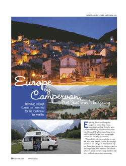 Europe Campervan, by E