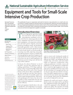 T Equipment and Tools for Small-Scale Intensive Crop Production