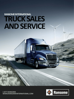 TRUCK SALES AND SERVICE RANSOME INTERNATIONAL 1-877-RANSOME