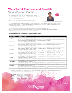 We-Vibe® 4 Features and Benefits Video Embed Codes